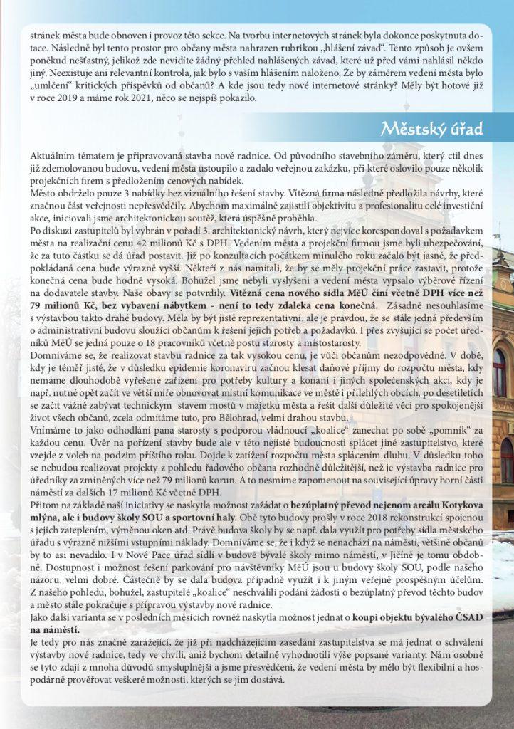 Bělohradské korekce - strana 3
