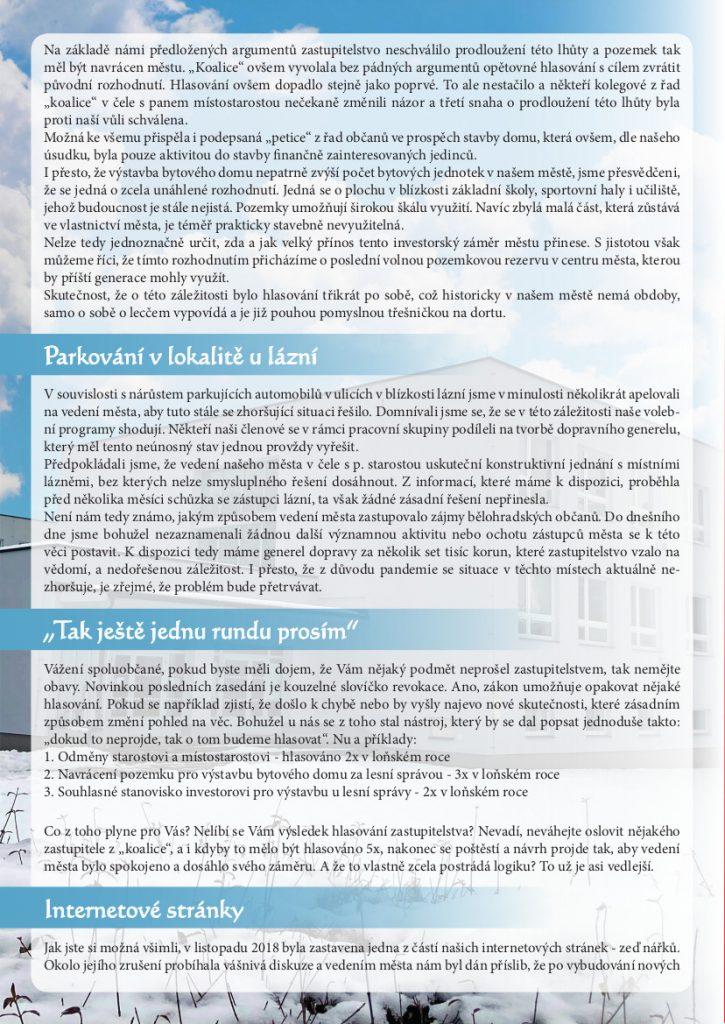 Bělohradské korekce - strana 2