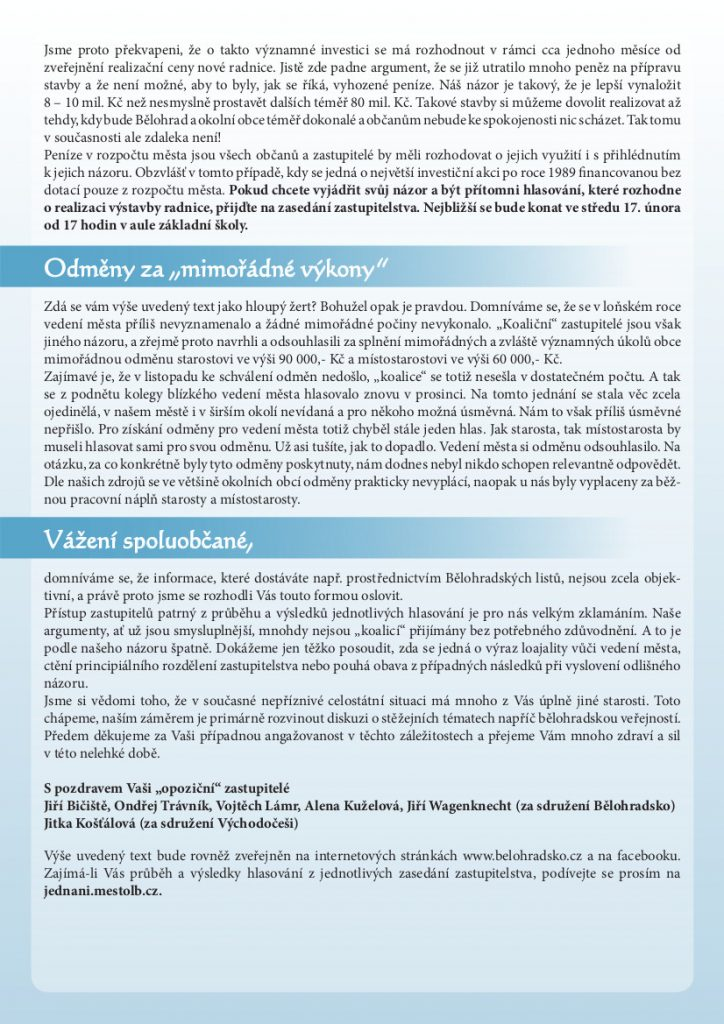 Bělohradské korekce - strana 4